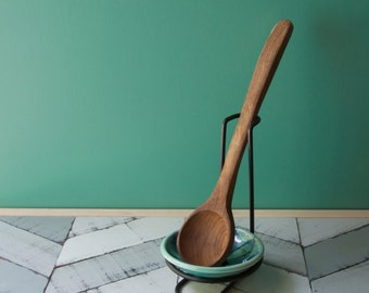 aqua spoon rest with metal stand