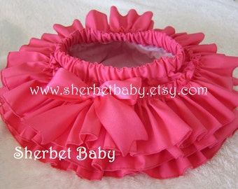 Hot Pink Original All Around Ruffle Sassy Pants Diaper Cover Panty Skirt Fabric Tutu This is Over the Top Cute