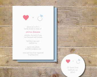 Bridal Shower Invitations . Bridal Shower Invites . Engagement Party Invitations  - Love + Engaged