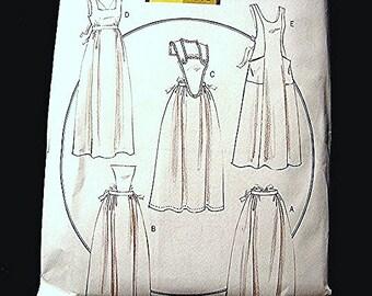 Historical Womens Long Full Apron Victorian Retro 1800s Apron Pattern Butterick Size S M L Uncut