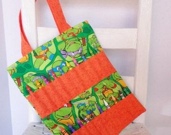 Teenage Mutant Ninja Turtles Crayon Bag TMNT Superhero Artist Tote Gift for Boy Coloring Tote Art