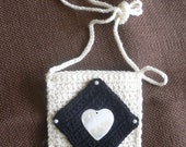 Black Diamond .... iPhone Case ....Crocheted