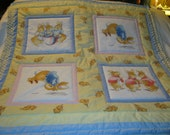 Handmade Baby Peter Rabbit Cotton Baby/Toddler Quilt-Newly Made 2016