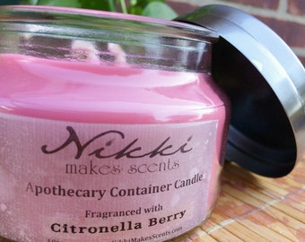 CITRONELLA BERRY - 10oz Apothecary Jar Soy Candle