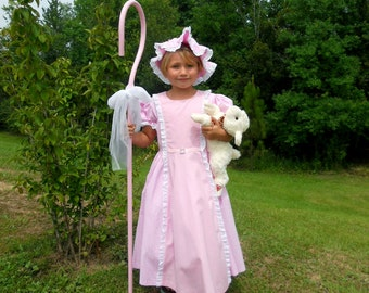 Little Bo Peep inspired girls costume / Sizes 3 thru 8 / Halloween / Birthdays / Dress Up /  Pageant / Trunk