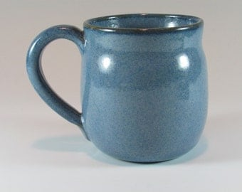 Ceramic Mug - Handmade Mug - Coffee Mug - Blue - Wheel Thrown Mug - Stoneware Mug - Pottery Mug - Coffee cup