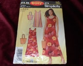 Simplicity 4157 Misses Sheath Dress and Purse Pattern Size 8-18