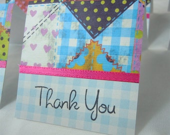 Quilting Squares Mini Thank You Cards 2x2 (6)