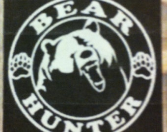 "Bear Hunter 4"" Decal"
