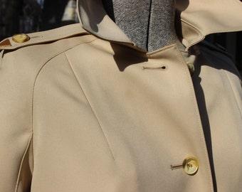 Trench Coat Double Breasted  Khaki Tan Long Button Up Rain Coat Sherlock Watson