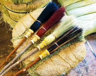 Small Witch's Besom  in your choice of Natural, Black, Rust or Mixed Broomcorn