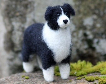 Dog Needle Felting Kit - Border Collie