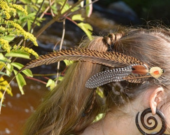 Fun feather hair or hat clip