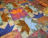 So Lovely-Batik Split Stars Quilt-On Sale Now!