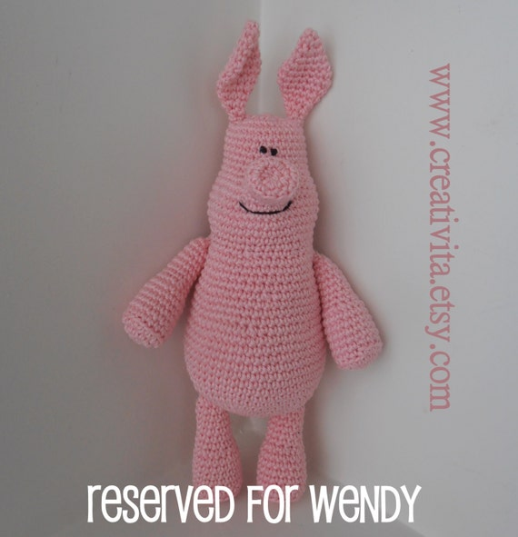 RESERVED for Wendy - One happy but naughty Pig - a collectors item