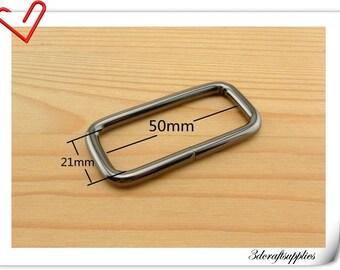 2 inch (inner diameter) gunmetal rectangular buckles 10pcs 5.0mm thickness U20