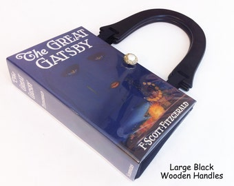 The Great Gatsby Recycled Book Cover Purse - 1920s Theme Party - Daisy Buchanan Costume Accessory - Roaring Twenties Accessory - Book Purse