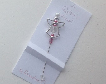 Angel Pin - A Quilter's Angel - Decorative Sewing Pin - Stick Pin
