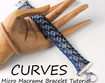 Micro Macrame Tutorial Curves Bracelet Pattern