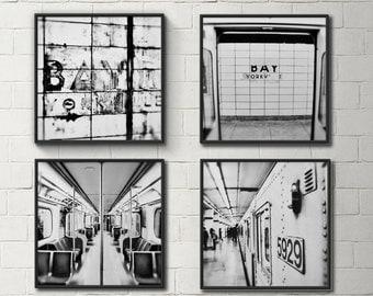 Subway Collection  - Toronto Photography, Subway Station, Bay Station, City Photo, Office Decor, Black White Photo, Toronto Subway TTC