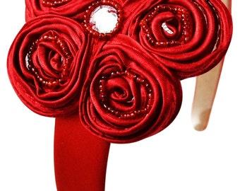 Kate Girls Satin Flower Headband