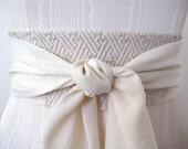Wedding Obi Sash, Wedding Sash, Silk Obi, Kimono Obi Belt