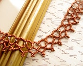 Copper Lace Necklace  Inspired by Downton Abbey