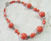 Orange-Peach Chunky Necklace