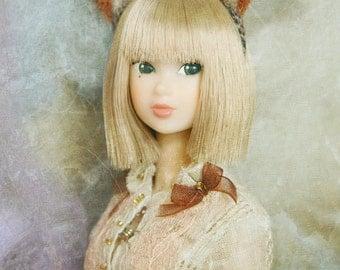 Jiajia Doll red fox ears head band fits momoko and Misaki and OB and unoa light