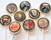 "Skull bones 2"" flat edible art Lollipops by Vintage Confections"