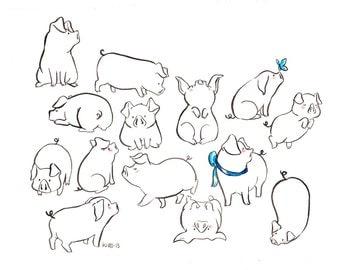14 piglets