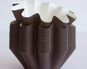 Brown Floret Baking Cups - 48 pcs