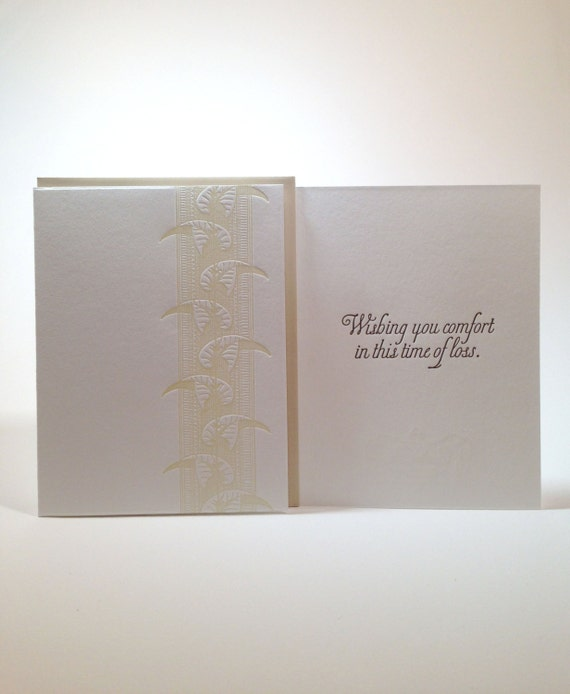 Letterpress Condolence Card