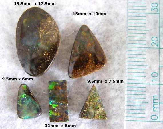 Australian Opal, DISCOUNT - Parcel of Solid Boulder Opal - Item123121 - use code SALE15 to receive 15% off