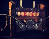 KICKSTARTER LINK INSIDE Steampunk Nixie Clock - Retro, Tube, Industrial - Handmade in Black Walnut & Copper