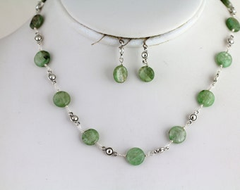 Green Kyanite Necklace Set. Listing 199408653