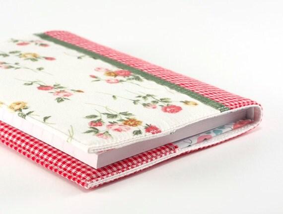 Fabric Journal Cover Rose Garden A6 Notebook Diary