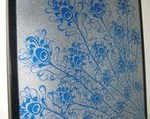 SALE .. Magnet Dry Erase Memo Board / Housewarming Gift / Office Decor / Organization / Desk / Coworker / Message Bulletin Board / Blue