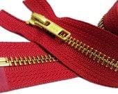 24 inch Jacket Zippers-YKK Brass Metal Teeth Zipper Number 5 Separating Genuine YKK Jackets Zipper (Select Color)