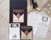 Vintage 1936 Monopoly Game