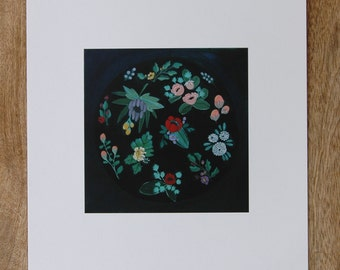 print of window floral