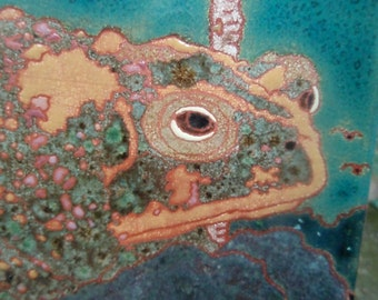 Grumpy Toad Tile ,CUSTOM ORDER -allow 4-6 wks production time-,in the Arts and Crafts style, l for kitchen, bath, fireplace surround