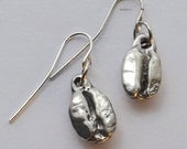 Coffee Beans - Pewter Earrings - Meditative Morning Roast, Breakfast, Kitchen, Jewelry