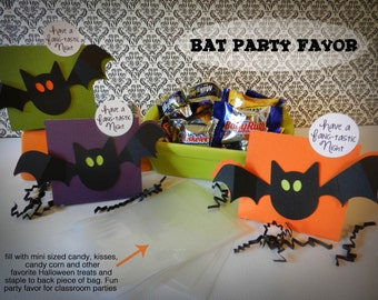 Kit 6 Halloween Treat Boxes Bat  Party Favor, Classroom Treat, Trick or Treat
