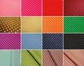 Dots Fabric - Medium Polka Dots Fabric Bundle By The Yard - Japanese Cotton Fabric -Half Yard Bundle in 16 Colors
