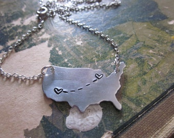 The Emily Necklace - Long Distance Love Pendant Necklace