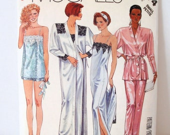Nightgown Pattern - Sewing Pattern - Lingerie - McCalls 3474 - Misses Camisole, Pants and Nightgown - Vintage