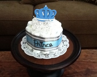 Little Prince Baby Shower Diaper Cakes Centerpieces other colors and sizes too bundt cake size