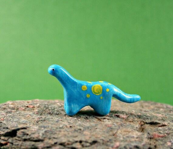 Miniature Figurine - Little Dinosaur - Miniature Polymer Clay Animal - Hand Sculpted