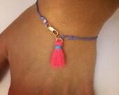 Neon Tassle Bracelet